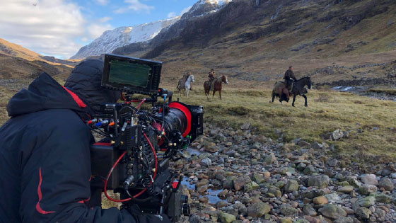 Cameraman filming horse scene from the movie the bruce